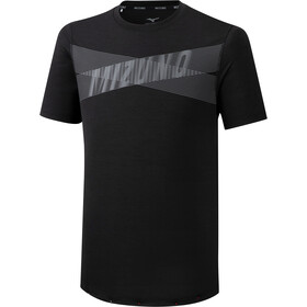 Mizuno Core Graphic T-shirt Heren, black